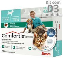 Antipulgas Comfortis 560mg Cães De 9 A 18 Kg Kit 3 Caixas - Elanco -