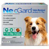 Antipulgas e Carrapatos NexGard para Cães de 10,1-25kg Merial