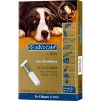 Antipulgas para cães advocate todas as raças de 25kg a 40kg com aplicador - Bayer