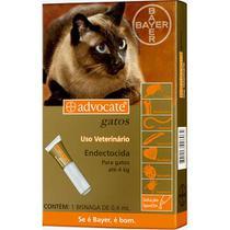 Antipulgas para Gatos Advocate Todas as Raças até 4kg com Aplicador - Bayer