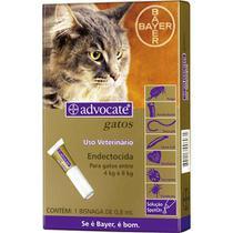 Antipulgas para Gatos Advocate Todas as Raças de 4kg a 8Kg com aplicador - Bayer