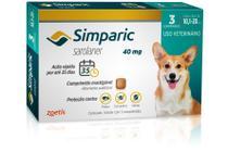 Antipulgas Zoetis Simparic 40 Mg Para Cães 10,1 A 20 Kg com 3 comprimidos -