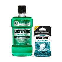 Antisséptico Bucal Listerine Anticáries Zero 500ml + 4 Listerine Go! Tabs -