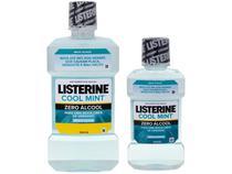 Antisséptico Bucal Listerine Sem Álcool Cool Mint - 500ml e 250ml 2 Unidades