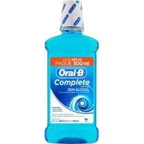 Antisséptico Bucal Oral-B Complete Menta Leve 500mL e Pague 300mL - Oral B