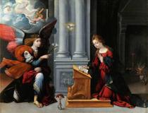 Anunciação (1528) - Garofalo - Tela 50x65 Para Quadro - Santhatela
