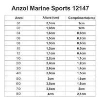 Anzol 12147 MS Niquel Número 1/0 Caixa Com 100 Unidades - Marine Sport