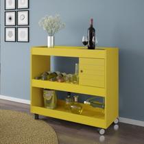 Aparador Bar com Adega Móveis Bechara Amarelo -
