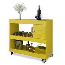 Aparador /bar cristal amarelo bechara -