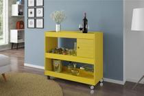 Aparador Bar Cristal Bechara Amarelo -