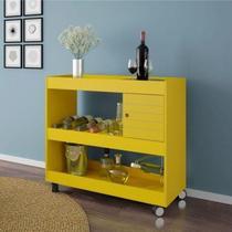 Aparador Bar Cristal Luxo Amarelo - Bechara