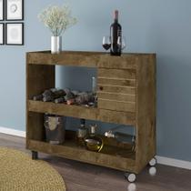 Aparador /bar cristal madeira rústica bechara -