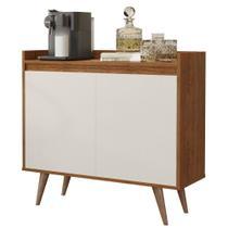 Aparador Buffet com 2 Portas Retrô Clean - Freijo / Off White - RPM Móveis -