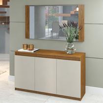 Aparador Buffet Onix com Espelho Star Imbuia / Off White - Viero Móveis