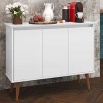 Aparador Buffet Retrô 3 Portas Luxo - Branco - EJ Móveis - Rpm Móveis