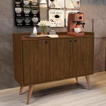 Aparador Buffet Retrô 3 Portas Wood - Freijó - RPM Móveis -