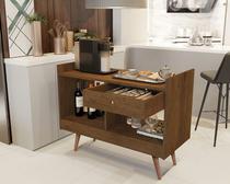 Aparador Buffet Retrô Pés Palito e divisor de ambientes Chatô JB 4064 Canela - Comprar Moveis Em Casa - Comprar Móveis Em Casa