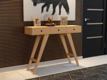 Aparador Canto Sala Retrô Madeira Mdf Com 3 Gavetas Mesinha Decorativa - Arte moderna decor