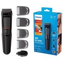 Aparador de Pelos Cabelo Barba Philips Multigroom MG3711/15 - Bivolt -