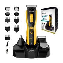 Aparador Gama GCX623 Sport 9 em 1 Máquina de Cortar Cabelo Barba Recarregável Uso Com e Sem Fio -