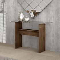 Aparador Moderno Ravena com Tampo em Vidro - Chocolate - Cel móveis