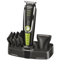 Aparador Mondial BG-04 Super Groom 6em1 Sem Fio Máquina de Cortar Cabelo Barba Pelos Micro Barbeador -