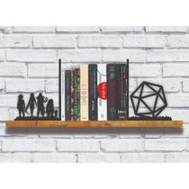 Aparador Organizador Porta Livros Geek - RPG Dados - Woodbooks