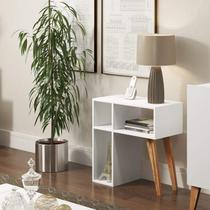 Aparador para Sala 3 Nichos Leaves Be Mobiliário Branco -