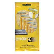 Aparelho De Barbear Enox 2 Lâminas Com 5 Unidades -