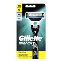 Aparelho de Barbear Gillette Mach3 Regular + 2 Cargas - Mach 3