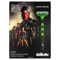 Aparelho de Barbear Gillette Mach3 Sensitive Liga da Justiça + 2 Cargas - Mach 3