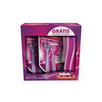Aparelho de Depilar Feminino Gillette Prestobarba3 + Escova -