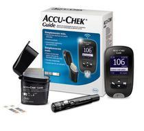 Aparelho de glicemia accu-chek guide kit com 1 monitor + 10 tiras guide + lancetador + 1 tambor com 6 lancetas -