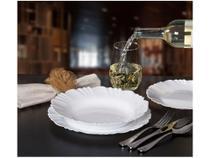 Aparelho de Jantar 24 Peças Duralex  - Redondo vidro Branco Opaline Pétala - Duralex Opaline