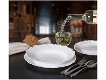 Aparelho de Jantar 24 Peças Duralex Vidro  - Redondo Branco Opaline Pétala