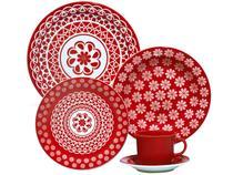 Aparelho de Jantar Chá 20 Peças Oxford - Cerâmica Redondo Floreal Renda