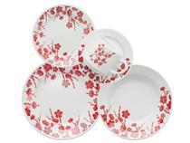 Aparelho de Jantar Chá 30 Peças Biona Cerâmica - Redondo Estampado Donna Jardim Oriental
