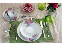 Aparelho de Jantar Chá 30 Peças Casambiente - Porcelana Redondo Celine