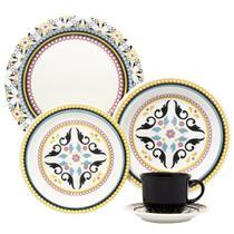 Aparelho de Jantar Chá 30 peças em Cerâmica Floreal Luiza - Oxford -