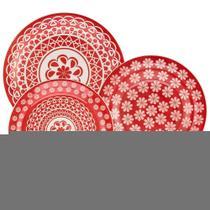 Aparelho de Jantar Chá 30 peças em Cerâmica Floreal Renda- Oxford -