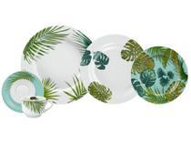Aparelho de Jantar Chá 30 Peças Schmidt - Porcelana Redondo Colorido Patricia