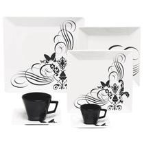 Aparelho de Jantar Chá Café 42 peças em Porcelana Quartier Tatoo - Oxford -
