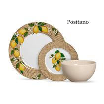 Aparelho de jantar com 12 pcs positano c/ bowl palha plus - Alleanza Cerâmica