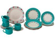 Aparelho de Jantar e Chá 20 Peças Biona Cerâmica -