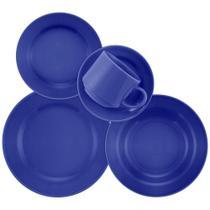 Aparelho de Jantar E Chá 20 Peças Donna Azul - Biona