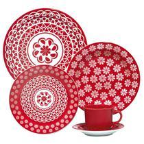 Aparelho De Jantar E Chá 30 Peças Floreal Renda 005227 Oxford -