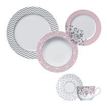 Aparelho de jantar e chá de porcelana milão 30 peças - Germer