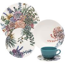 Aparelho De Jantar E Chá Oxford 30 Peças Cerâmica Unni Bothanica -