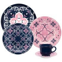 Aparelho de Jantar e Chá Oxford Cerâmica 30 Peças Floreal Hana -