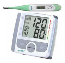 Aparelho De Medir Pressão Arterial Digital + Termômetro - G-Tech